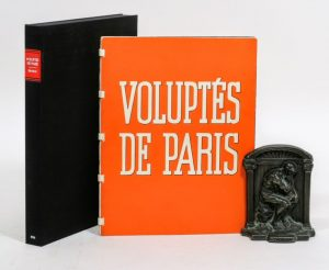 "The front cover of Brassai's 1935 seminal photography collection ""Voluptes de Paris"""